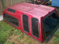 Fiberglass Topper 7 foot , sliding side windows with