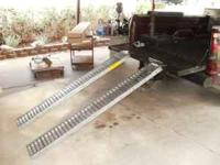 1 pair brand new steel truck loading ramps, 6'long,