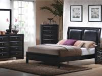 The Briana bedroom set is one of a few true BLACK