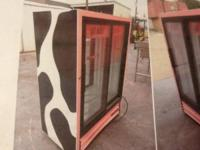 True double sliding glass door cooler. Model#GDM-33CPT.