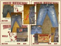 True Religion Brand Jeans Ricky 34 seat 2 pair!!!!! one