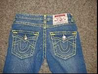 True Religion yellow stitch jeans. Size 29 in excellent