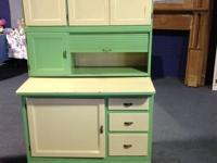 True Vintage Hoosier Cabinet Beautiful Shape.  Awesome