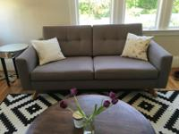 Mid-century modern style, clean design. Perfect size to
