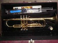 I have an older trumpet with a case, and music stand.