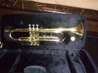 Trumpet with case.  Bought from Schmitt Music.