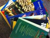 I have an assortment of books from my trumpet-playing