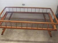 Rare 1800s Wooden Trundle Bed $280. Beautiful, rare and