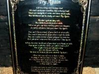 "16"" X 20"" FRAMED ""TRY AGAIN"" QUOTE IN GOLD FROM"