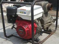 Tsurumi EPT3-80HA Trash Pump w/ Honda GX240 Engine