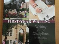 First Year Writing - Writing in the Disciplines Seventh