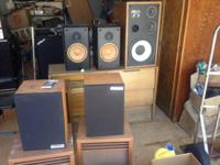 German tube receiver and several speakers. Some working