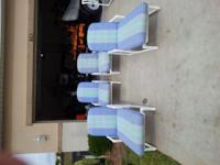 Tube-lite furniture in very good condition. 4 Loungers