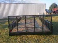 New black 6x12 tube trailer, treated wood floor, dove