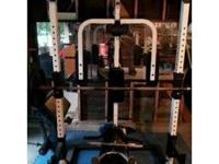 Tuff Stuff Commercial Home Gym - Half Cage In Good