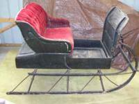 This is a collectible antique one-horse sleigh from