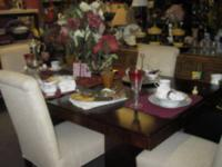 I HAVE TWO STUNNING DINNING ROOM SETS. 1. 6 CHAIRS WITH