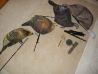 For Sale Turkey Decoys & Calls 3 Hens - 2 Hens Are 2D &