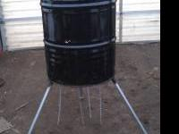 55 gallon drum turkey/deer feeder is new and we only