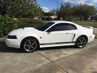 Turn Heads White Mustang 2002 for Sale, Adult Owner
