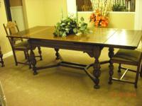 "Oak eating area table from millenium (60""L - 96"" with"