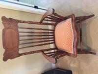 Beautiful, fully restored cherry/maple rocker. A