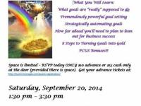 Turning Goals into Gold Mastermind Workshop