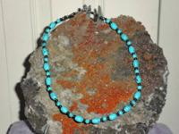Turquoise Choker Necklace with Oval and Round shape