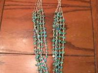 This is a genuine 5 strand turquoise heishi necklace.