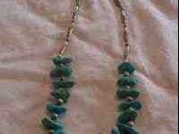 Chunky turquoise necklace. Nice piece with hook