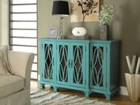 Finished in a classic teal blue color, this accent