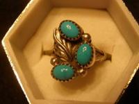 Three Stone Ring Size 6 $25.00 Vintage One Stone Ring