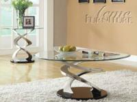 Modern T011 Saturn Contemporary Glass Table Was For Sale