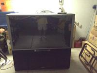 TV works perfectly. The TV has wheel for mobility. If