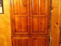 TV Armoire ( wood, oak finish look) $80 Entertainment