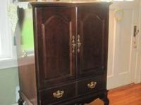 Beautiful Queen Anne TV Armoire made by Hooker.