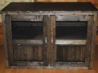T.V. CABINETS, MADE OUT OF SOLID WOOD CAN DO ANY TYPE