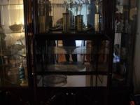 Mahogany Cabinet (a light mahogany) with a total of 4