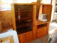 TV Entertainment Center. Solid wood. A 32 inch TV will