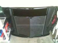 Nice black Tv stand with nice space for keeping