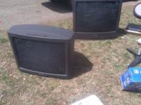 Two big tube tv's good picture  // //]]> Location: