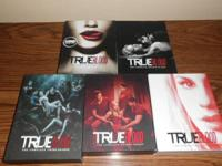 dvds. true blood season 1-5 - 75.00 for all. home