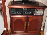 Cherry wood TELEVISION stand, exceptional condition.