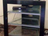 Nice glass tv stand in perfect condition. No scratches