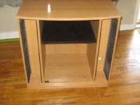 Tv stand like new going into the air force and selling