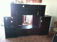 Black tv stand nice used condition.