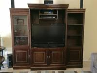 Oak Furniture West TV Stand and Entertainment Center. I