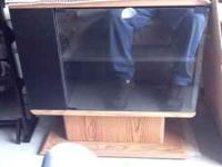 Tv stand for 50. Desk with glass top, 2 piece with to
