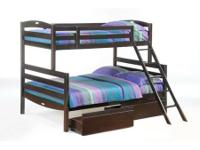 The Sesame Twin Full Bunkbed is readily available in: