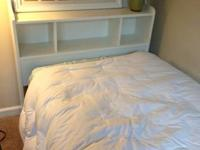 Twin bed frame and headboard for sale. The frame does